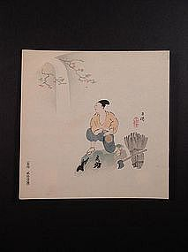 Original woodblock print by Hyakusui (1877-1933)