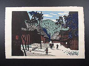 Original woodblock print by Kiyoshi Saito (1907-1997)
