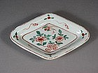 Japanese porcelain dish with floral design