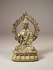 Chinese bronze seated figure of Sakyamuni