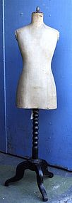 Vintage French Mannequin Dress Form circa 1900's
