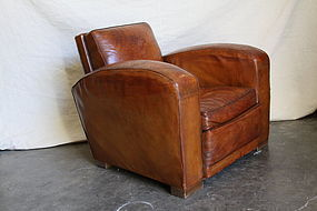 Vintage French Club Chair - Giant Lyon Lounge Single