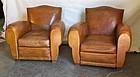 Vintage French Club Chairs Gendarme Chapeau des Alps
