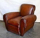 French Leather Club Chair - Rennes Gangbox Single