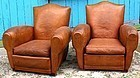 Vintage French Club Chairs Charente Cognac Gendarme