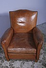 French Mustache Solo  Vernazay Leather Club Chair