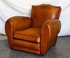 Trocadero Mustache French Leather Club Chair