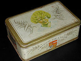 Vintage French Fruit Tin - Prince de Liege