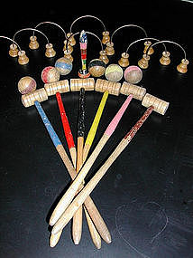 Adorable Mini Toy Croquet Set from France
