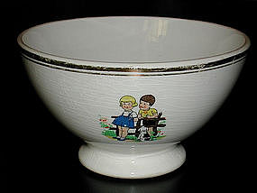 Adorable French Cafe au Lait Bowl Children & Animals