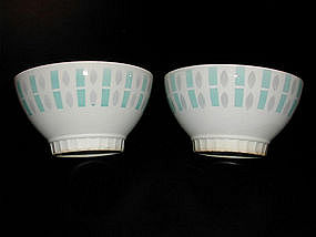 Pair of Vintage French Cafe au Lait Bowls
