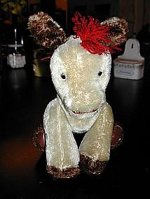 Vintage Mohair Stuffed Donkey