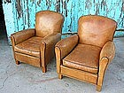 Vintage French Club Chairs - Pilot Boutal Pair