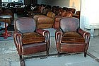 Vintage French Club Chairs Benoit Sweet Nail Pair