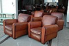 French Leather Club Chairs 4 Place des Vosges Rollbacks