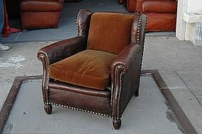 Vintage French Club Chair St. Germaine Single Wingback