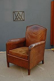 Vintage French Club Chair Chartres Nailed Single