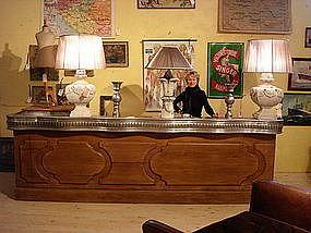 Vintage French Zinc Top Bar Paris Bistro Style
