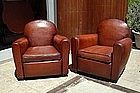 French Club Chairs Petite Cinema Restored Pair