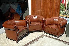 French Club Chairs - Vintage Ile Saint Louis Trio