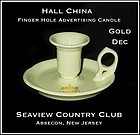Hall China Advertising Finger Hole Candle