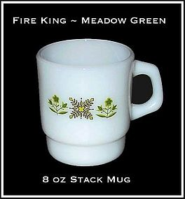 Fire King Meadow Green 8 oz Stack Mug
