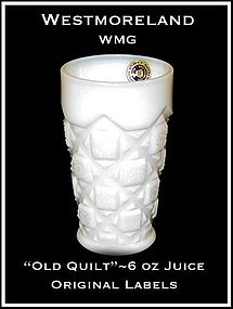 "Westmoreland ""Old Quilt"" 6oz Juice Tumbler-Org Label"
