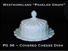 "Westmoreland ""Paneled Grape"" PG 36 Covered Cheese Dish"