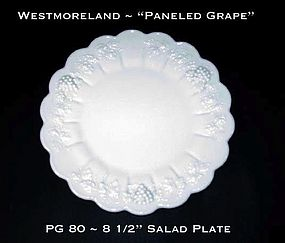 "Westmoreland ""Paneled Grape"" PG 80 8 1/2"" Salad Plate"