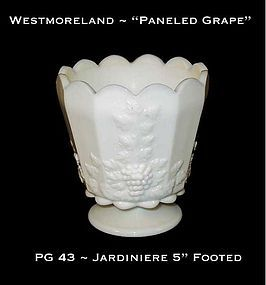 "Westmoreland ""Paneled Grape"" PG 42 ~ 5"" Tall Jardiniere"