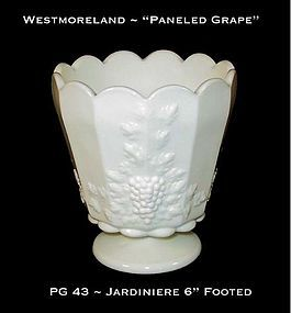"Westmoreland ""Paneled Grape"" PG 43 ~ 6"" Tall Jardiniere"