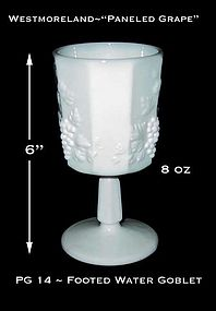 "Westmoreland ""Paneled Grape"" 8 oz Footed Water Goblet"