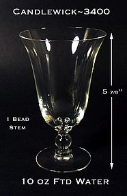 Candlewick by Imperial 3400 ~ 10 oz Footed Water Glass