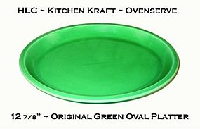 "HLC Co. ~ Kitchen Kraft ~ Org Green 13"" Platter"