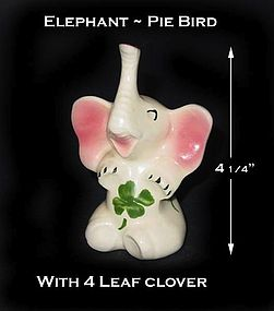 Ceramic China Decorated Pie Bird or Vent 4 Leaf Clover