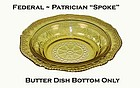 "Federal Patrician ""Spoke"" Amber 6 1/2"" Jam Dish"