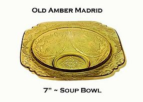 "Federal Amber Madrid 7"" Rimmed Soup Bowl"