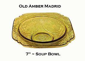 "Federal Amber Madrid 7"" Rimmed Soup Bowl"