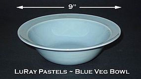 LuRay Pastels 1940's TS&T Lg Blue Vegetable Bowl