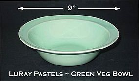 LuRay Pastels 1940's TS&T Lg Green Vegetable Bowl