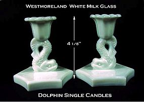 Westmoreland WMG Pair of Dolphin Single Candles