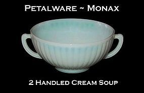 MacBeth-Evans Petalware Monax Cream Soup Bowl
