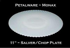 """MacBeth-Evans Petalware Monax 11"""" Large Chop Plate"""