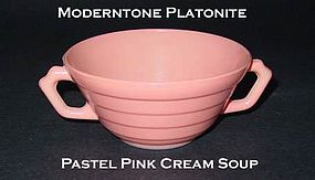 Moderntone Platonite Pastel Pink 2 Handled Cream Soup