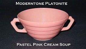 Moderntone Platonite Pastel Pink 2 Handled Cream Soup
