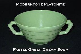 Moderntone Platonite Pastel Green 2 Handled Cream Soup