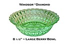 Jeannette ~ Windsor Diamond Green Large Berry Bowl