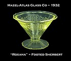 "Hazel-Atlas ~ ""Roxana"" Golden Topaz Footed Sherbert"