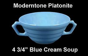Moderntone Platonite Pastel Blue 2 Handled Cream Soup