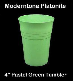 Moderntone Platonite Pastel Green 4 inch Water Tumbler